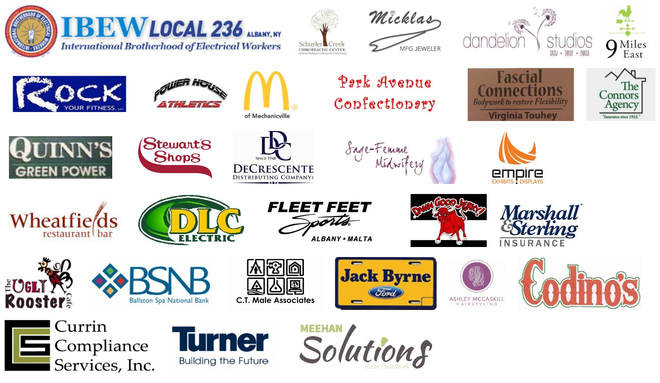 image of sponsors from 2017 for Sashas Run